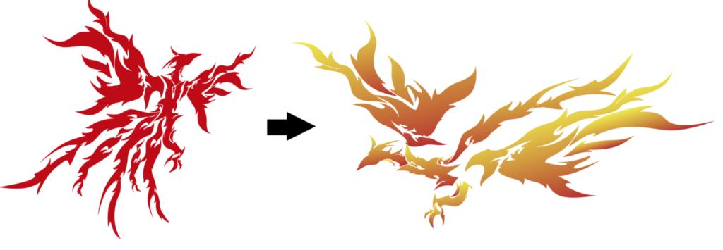 火の鳥画像の加工